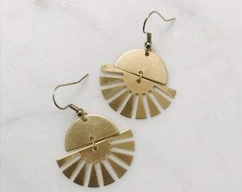 Sunburst charm earrings