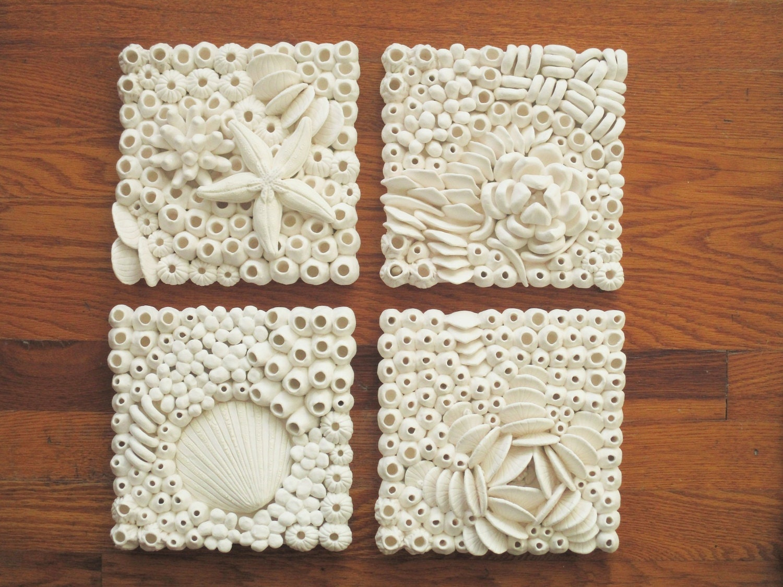 Arrecife de coral cerámica arte azulejos playa arte de 15 | Etsy