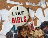i like girls, large button