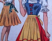 Vintage 1940s Dancing Costumes Tap Dance Gypsy Italian Peasant Costume Size 6 Mccalls 792 Vintage 40s Pattern Sewing Size 6 Bust 24