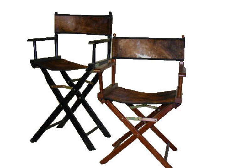 24 Inch Custom Cowhide Directors Chairs