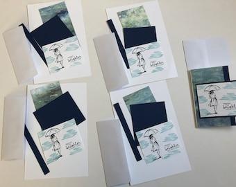 DIY Greeting Card Kit Handmade High Quality - 5 Cards