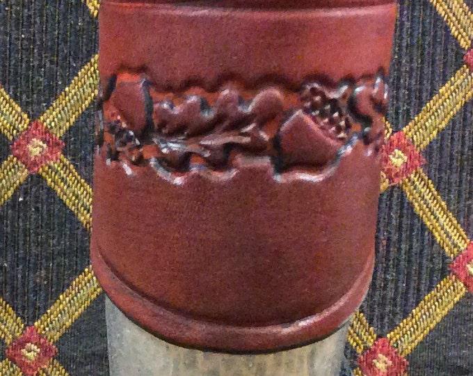 Celtic pagan oak leaf and acorn shot horn