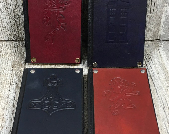 Small sketchbooks embossed leather