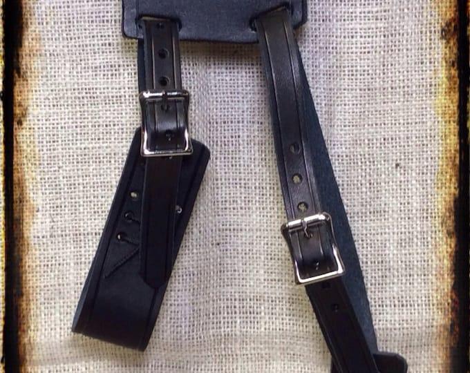 Leather long sword frog celtic weapon hanger renaissance scabbard holder pirate
