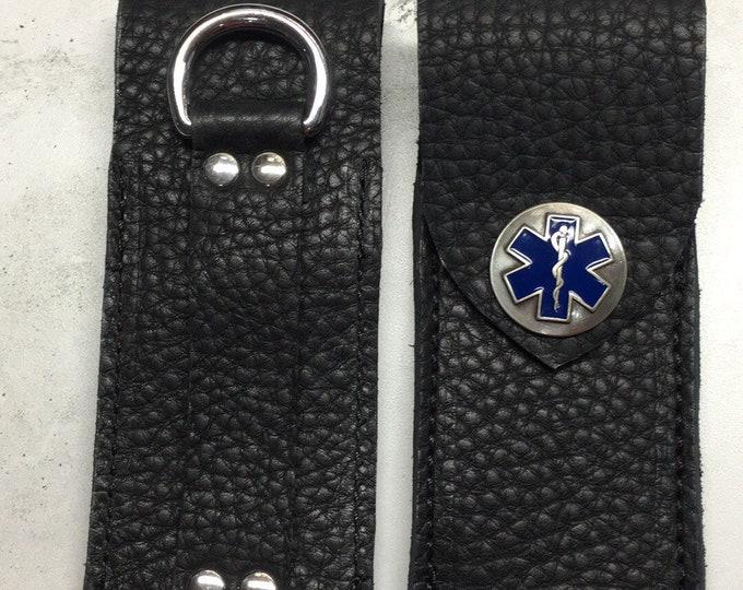 Leather EpiPen Epi Pen belt case medical celtic Kilt larp sca motorcycle medic purse