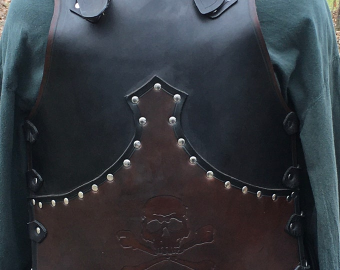 Handmade leather Pirate breastplate