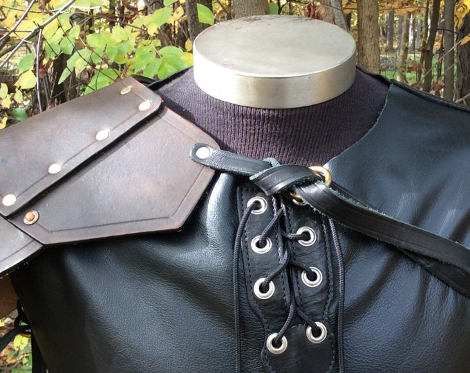 Mercenary shoulder leather armor viking celtic knight