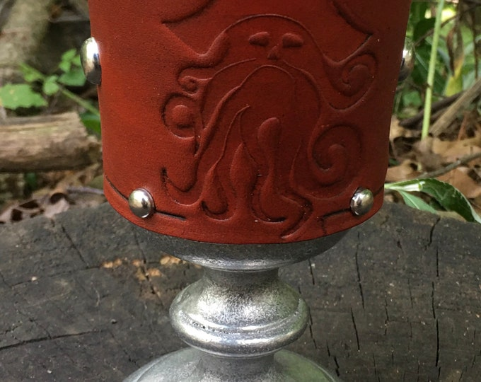 Statesmetal Goblet with Embossed Pirate Davy Jones