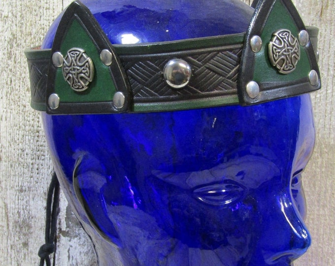 Leather Ceredic crown SCA LARP LOTR