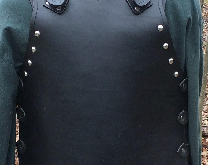 Handmade leather Studded Breastplate