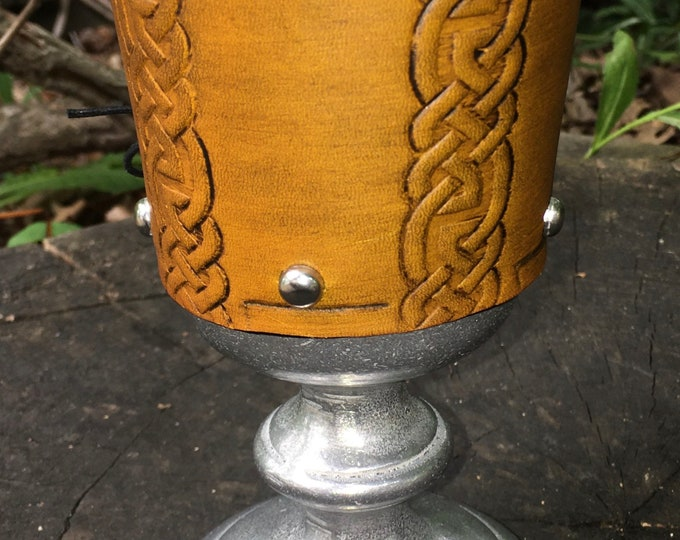 Statesmetal Goblet with Embossed Celtic knotwork lines