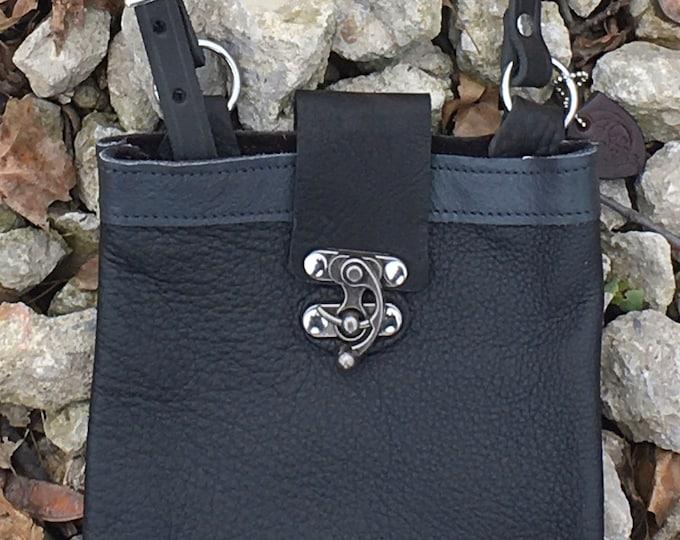 Top grain leather shoulder bags
