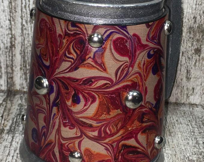 Small Statesmetal Mug marbled leather