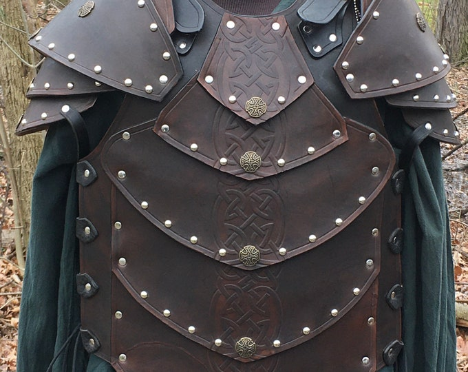 Handmade leather Celtic Dragonscale Breastplate
