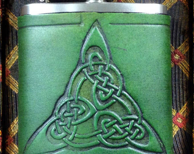 Celtic triangle 6 oz pocket flask
