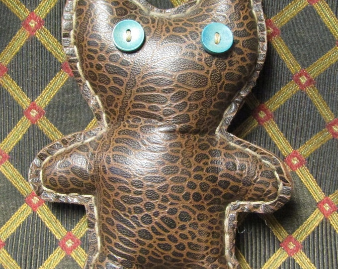 hand sewn leather Teddy Monster