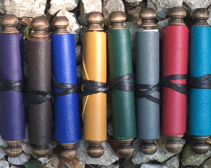 Leather parchment COLORS scroll