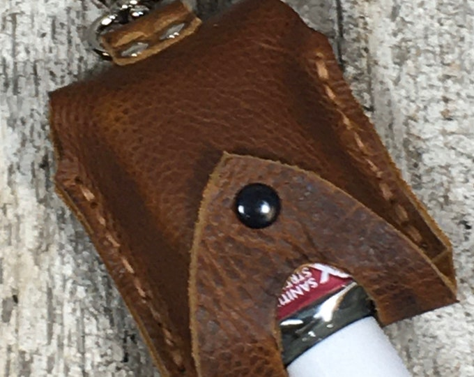 Leather 2oz hand sanitizer holders