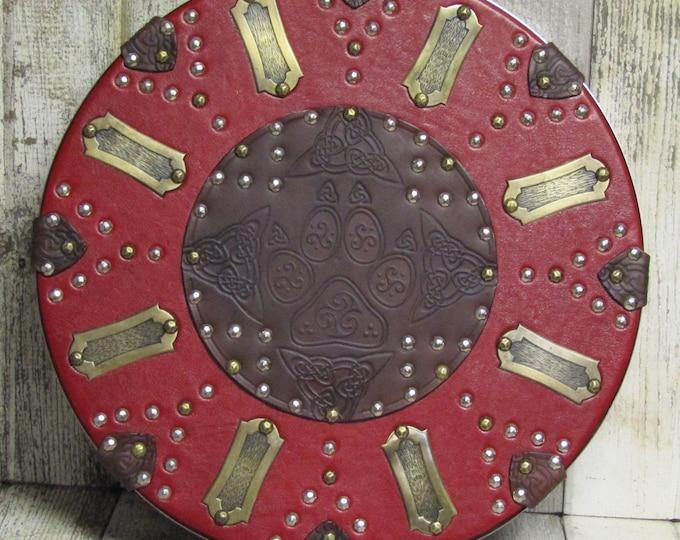 Scottish targe celtic wolf paw shield