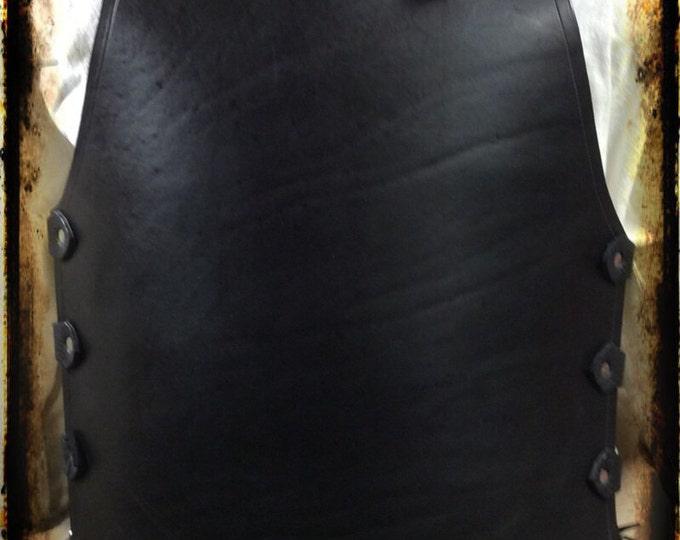 Plain black leather breastplate celtic LARP SCA renaissance