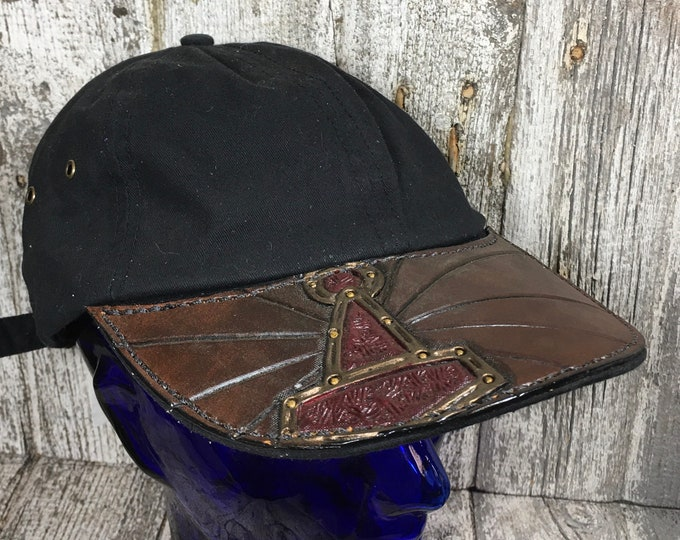 Hand tooled baseballs caps