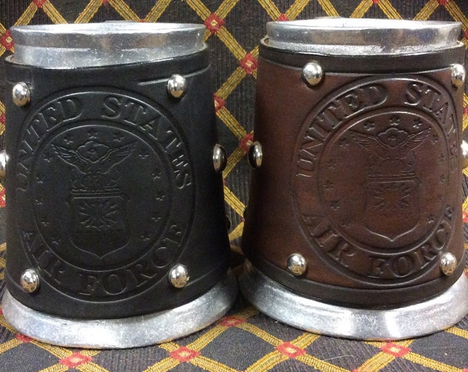 Embossed US Air Force Military 16 oz tankard
