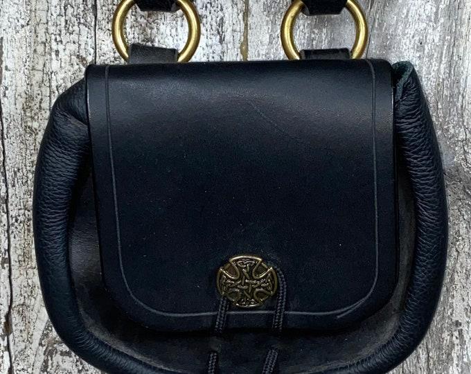 Celtic sporran belt pouch leather