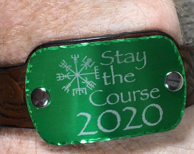 Stay the Course 2020 bracelet leather