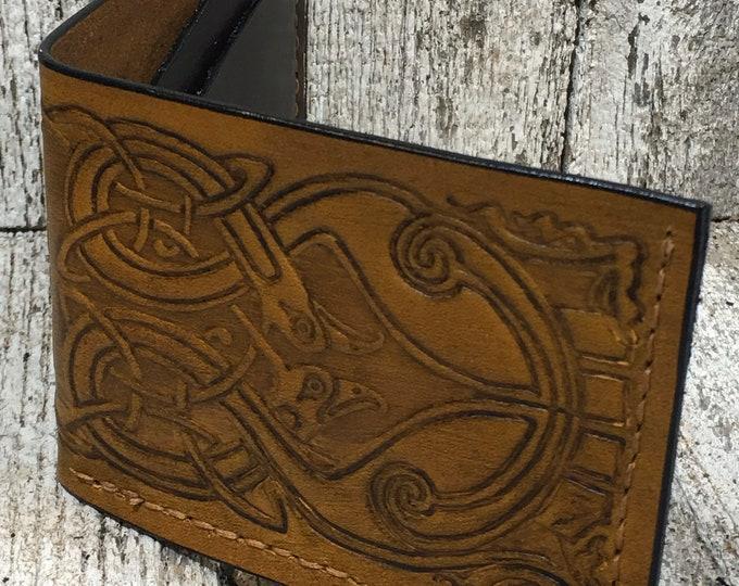 Leather wallet, basic design, Celtic