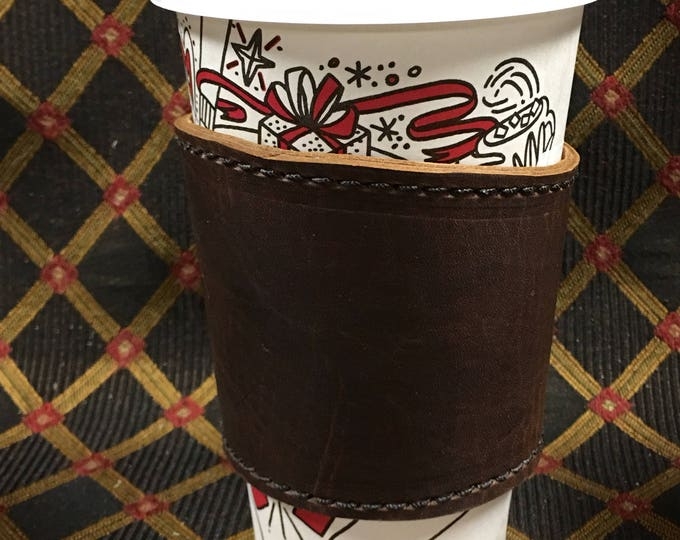 Leather coffee cup cozies
