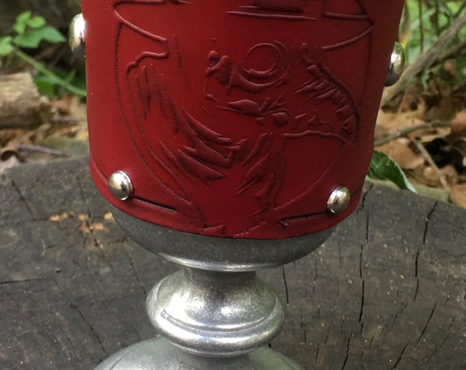 Statesmetal Goblet with Embossed Plague Doctor