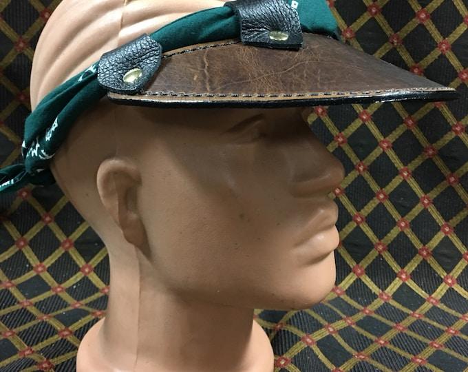 Leather sun visor