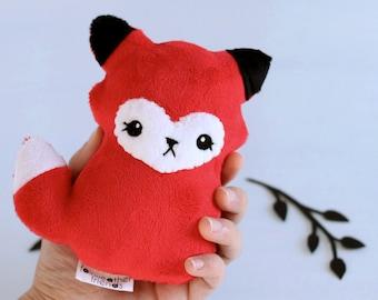 Red Fox Plushie. Stuffed Animal, Fox Softie, Minky Plush, Stuffed Toy Fox, Woodland Fox Doll, Little Vixen, Cute Forest Fox, Designer Plush