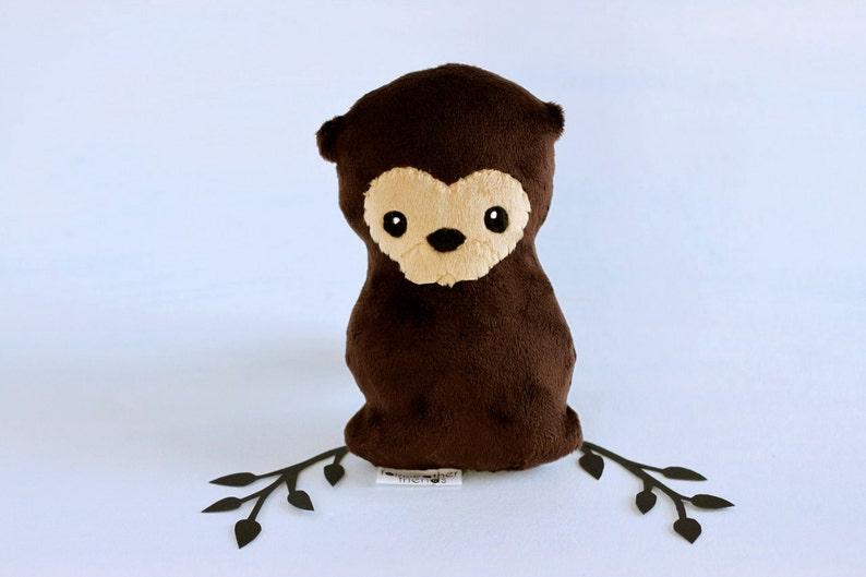 Otter Plushie. Stuffed Toy Otter Softie Little Plush Animal image 0