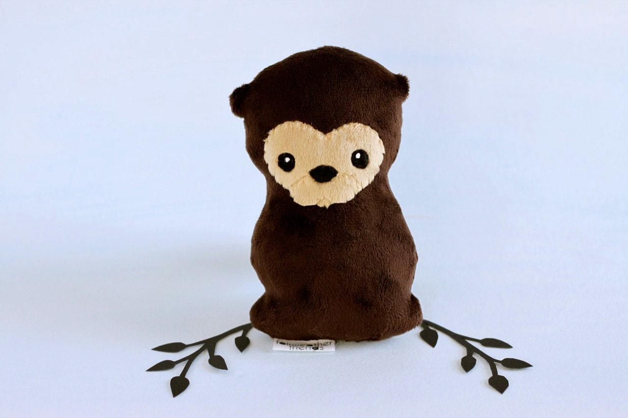 Otter Plushie Stuffed Toy Otter Softie Little Plush Animal Etsy