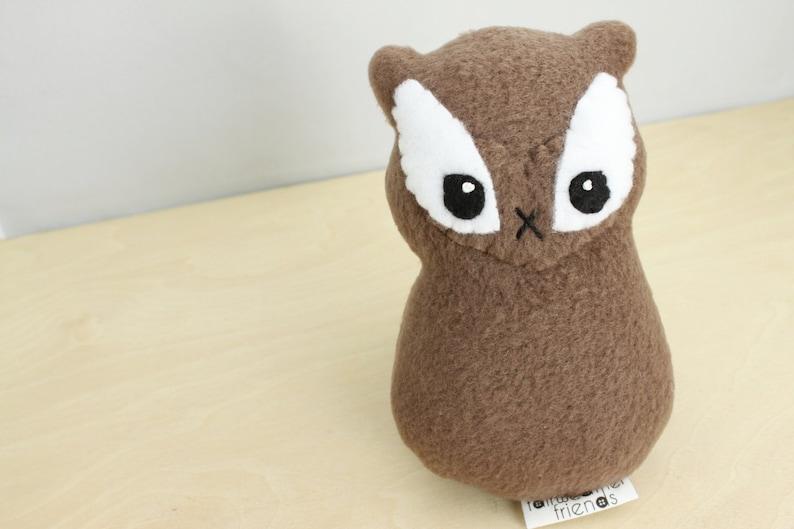 Chipmunk Plushie. Stuffed Animal Woodland Softie Small Plush image 0