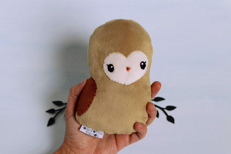 Barn Owl Plushie Owl Stuffed Animal Barn Owl Softie Little Etsy