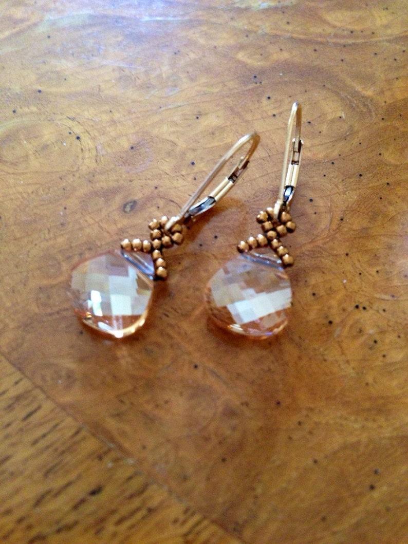 0dd246792 Dainty gold crystal earrings gold earrings Swarovski | Etsy