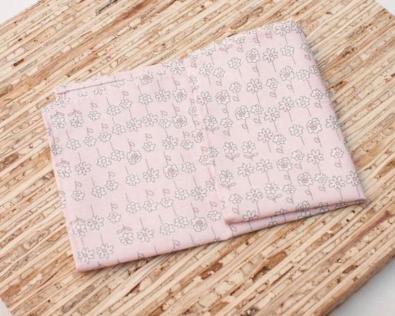 N3430s - Red Petite Fleur Modern Reusable Fabric Napkins Small Cloth Napkins Set of 4 -