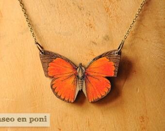 "Butterfly necklace ""Orange"""