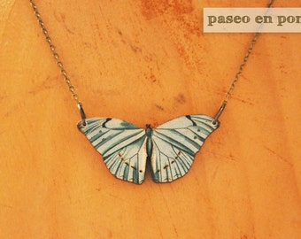"""Butterfly necklace """"Aguamarina"""""""