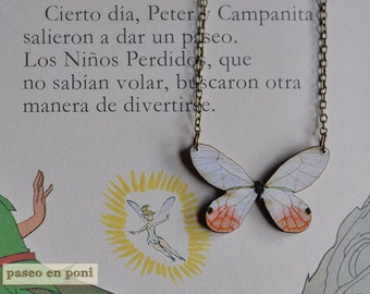 Necklace White Butterfly