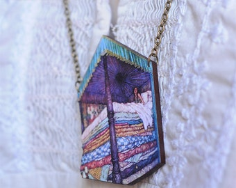 """Necklace """"The Princess and the Pea"""""""