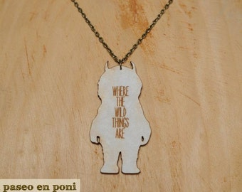 """Necklace """"Where the wild things are"""""""
