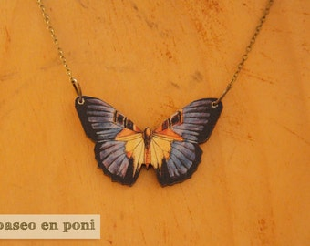"Butterfly necklace ""Purple"""