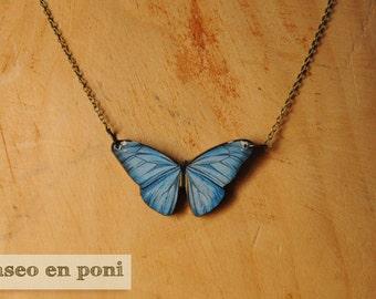 "Butterfly necklace ""Indigo"""