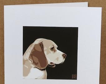 Beagle Greeting Card Art Print