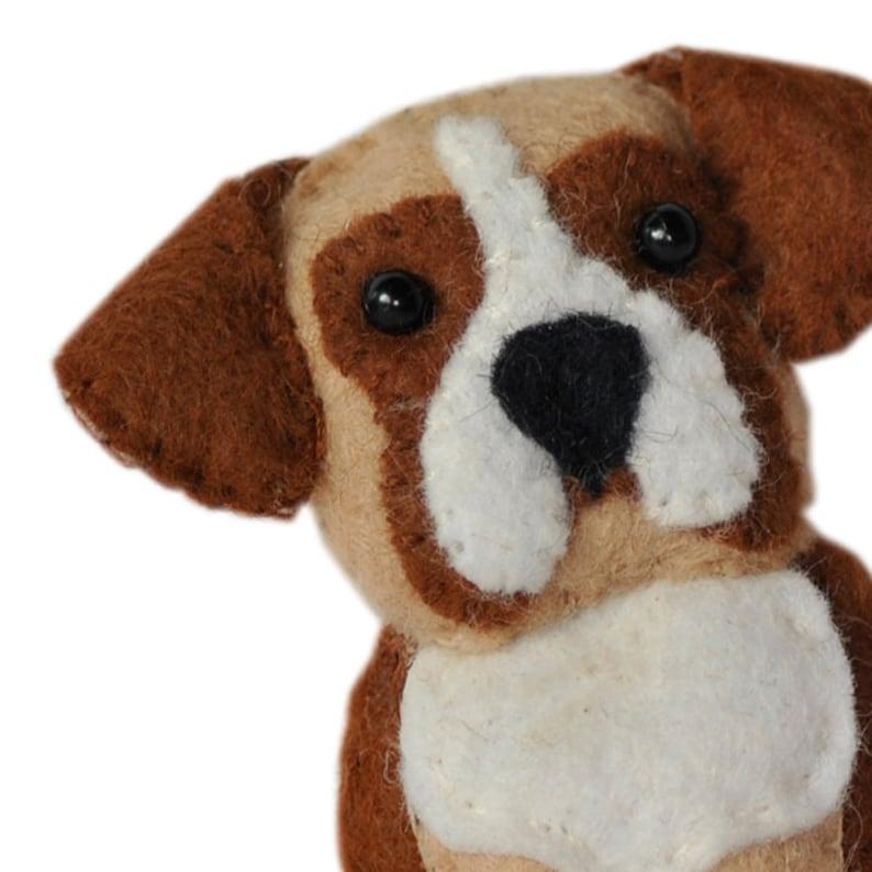 digital pdf sewing pattern tutorial for wool felt hand sewn dog set 2