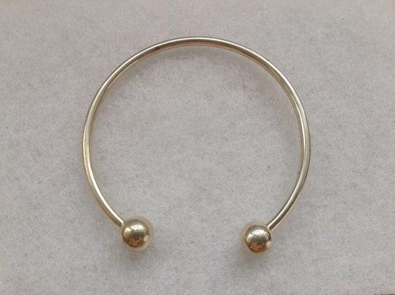 Pearl Bangle Solid Silver Ladies Torque Bracelet